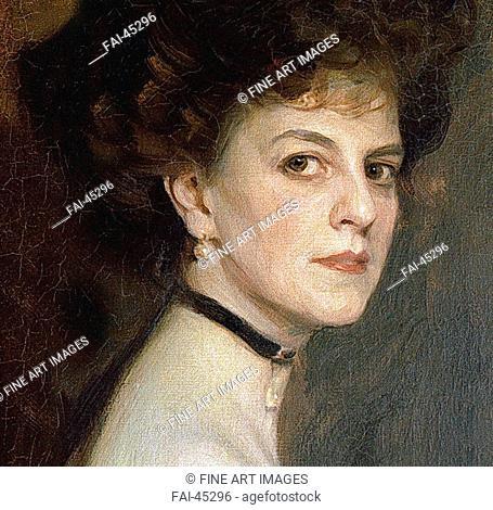 Élisabeth, Countess Greffulhe (1860-1952), née de Riquet de Caraman-Chimay (Detail) by László, Philip Alexius de (1869-1937)/Oil on canvas/Academic...