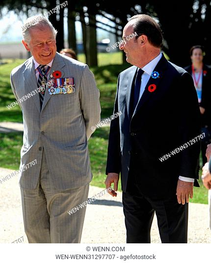 The Prince of Wales, The Duke of Cambridge and Prince Harry attend the Centenary of the Battle of Vimy Ridge Featuring: Prince Charles