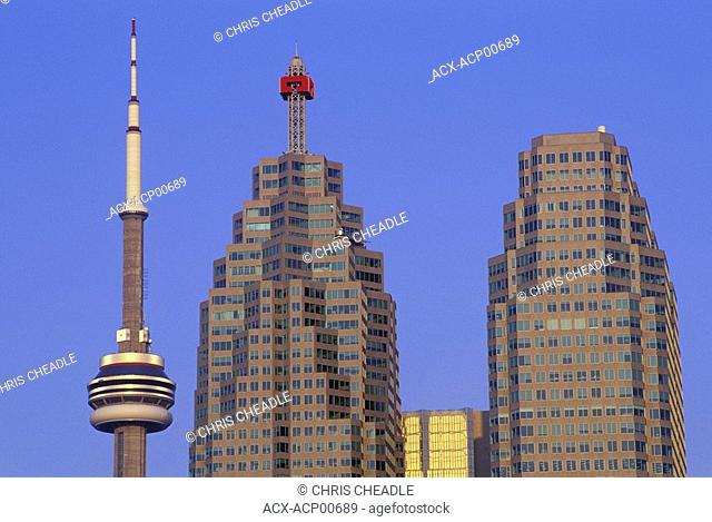 BCE bldg with CN tower, Toronto, Ontario, Canada