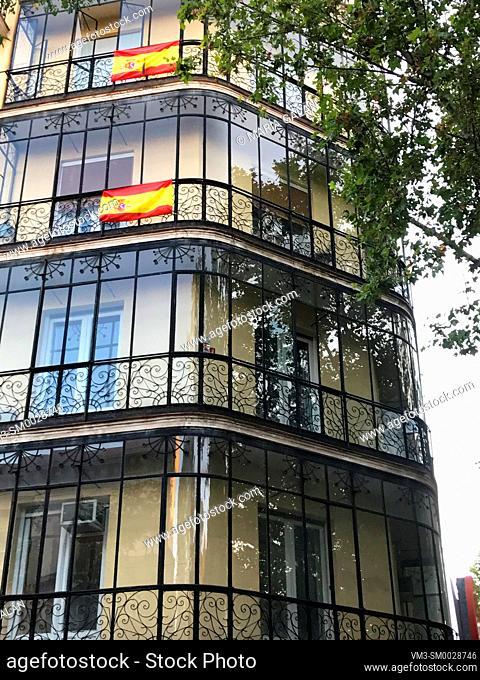 Facade of house. Madrid, Spain