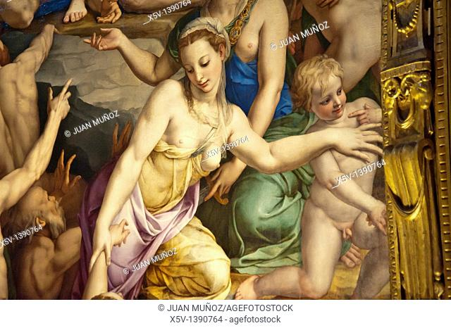 Renaissance painting in the museum of the Basilica of Santa Croce, Florence, Italy