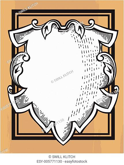 Vintage ornamental shield