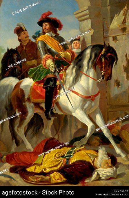 The Recapture of Buda, 1686 , ca 1865. Creator: Blaas, Karl von (1815-1894)