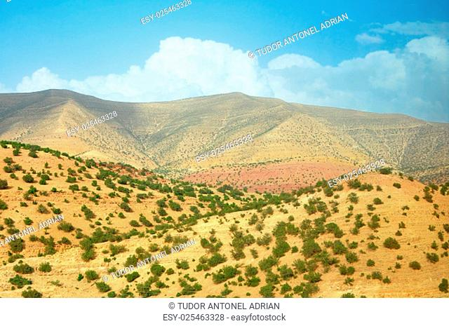 morocco outdoor general view and atlas mountains landscape