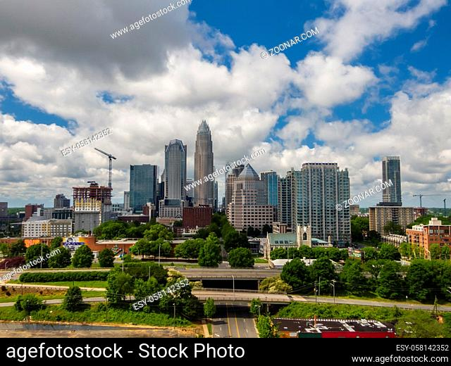April 26, 2020 - Charlotte, North Carolina, USA: Charlotte is the most populous city in the U.S. state of North Carolina