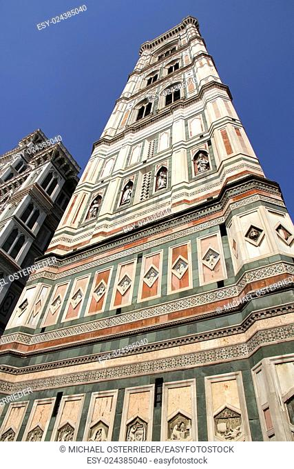 The Basilica of Saint Mary of the Flower (Basilica di Santa Maria del Fiore) in Florence, Italy