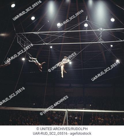 Zirkus Krone in München, 1981. Performance in Circus Krone in Munich, 1981