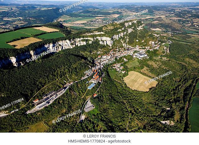France, Aveyron, Parc Naturel Regional des Grands Causses (Natural Regional Park of Grands Causses), Roquefort sur Soulzon