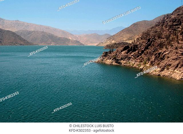 Chile, Region of Coquimbo, Puclaro Dam in the Elqui Valley