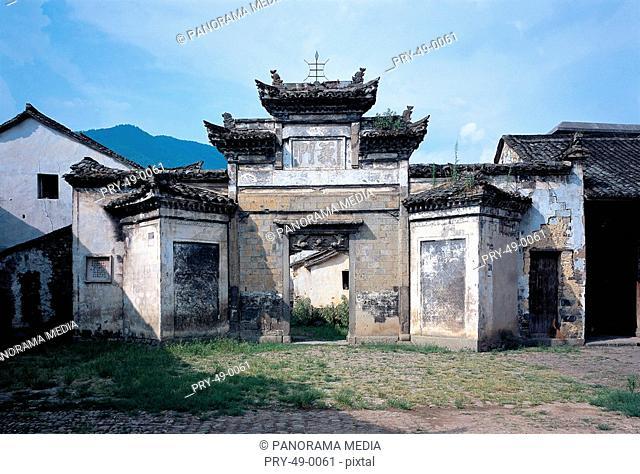 traditional Chinese buildings in Longmen Town,Fuyang,Hangzhou city