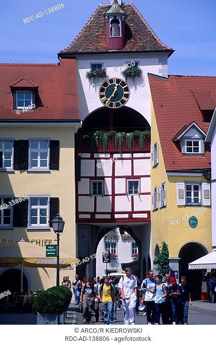 Gate  'Unterstadttor' Meersburg Lake Constance Baden-Wurttemberg Germany