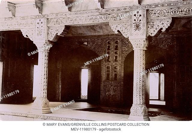 Taj Mahal (interior), Agra, India - the mortuary temple of Mumtaz Mahal, the beloved wife of the Indian Emperor Shah Jahan