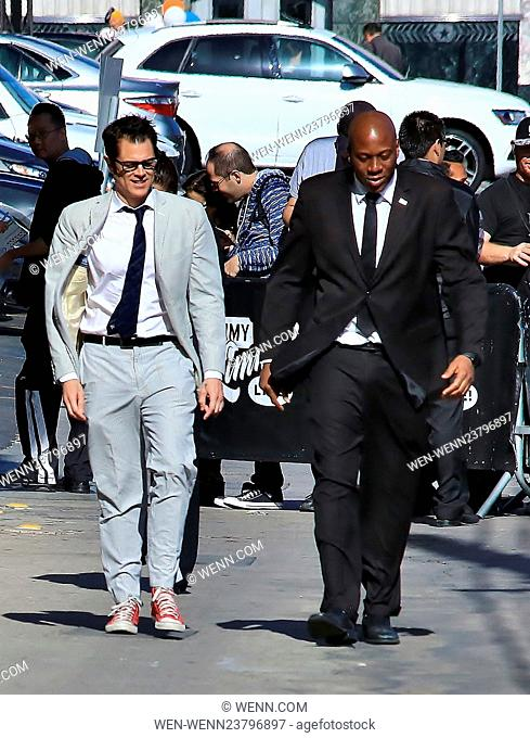 Celebrities outside the 'Jimmy Kimmel Live!' studios Featuring: Johnny Knoxville Where: Los Angeles, California, United States When: 27 Apr 2016 Credit: WENN