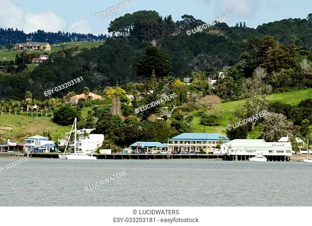MANGONUI, NZ - SEP 01:landscape view of Mangonui village on Sep 01 2013.It's an historic village of one of the oldest European settlements in NZ set in...