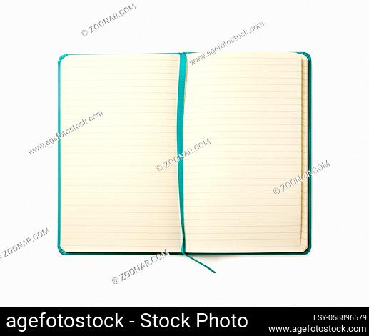 Blank notebook mock-up isolated on a white background