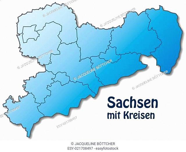 Karte Von Sachsen Mit Stock Photos And Images Agefotostock