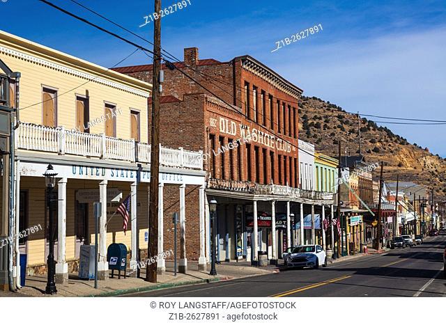 Street scene of Virginia City, Nevada, USA