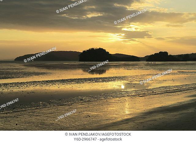 Nopparat Thara Beach at Sunset, Ao Nang, Krabi Province, Thailand