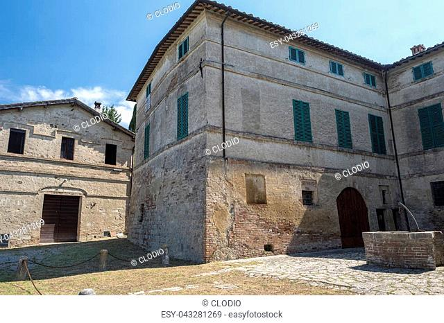 Typical rural house in the region of Chianti, in Tuscany, Italy, in a sunny summer day