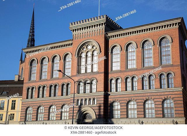 Building on Riddarholmen Island, Stockholm, Sweden
