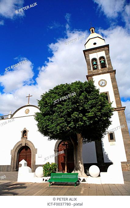 Spain, Canary islands, Lanzarote, Arrecife, Iglesia San Gines