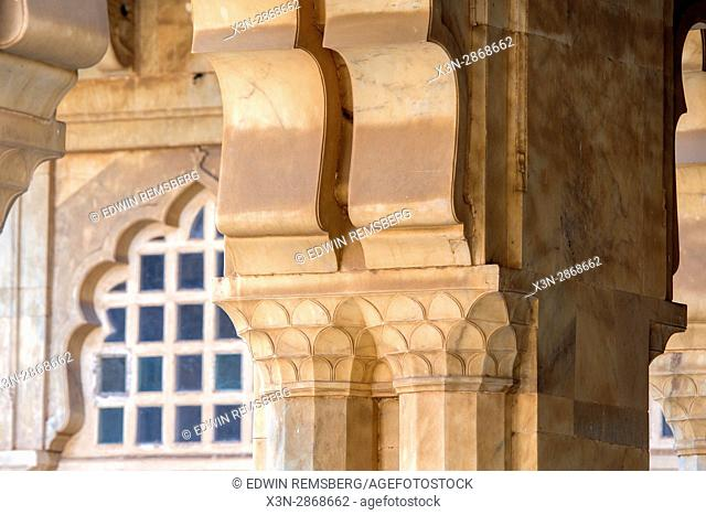 Stone column in amber fort