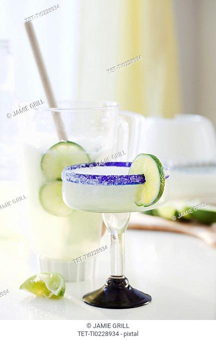 A margarita by a blender