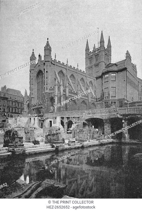 'The Old Roman Bath at Bath Before Restoration', 1902. From Social England, edited by H.D. Traill, D.C.L. and J. S. Mann, M.A