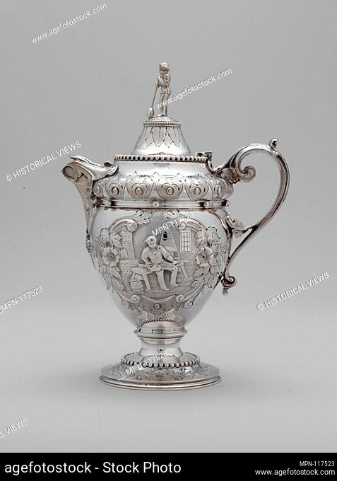 Creampot. Maker: Wood and Hughes (1845-99); Date: 1862-63; Geography: Made in New York, New York, United States; Culture: American; Medium: Silver; Dimensions:...