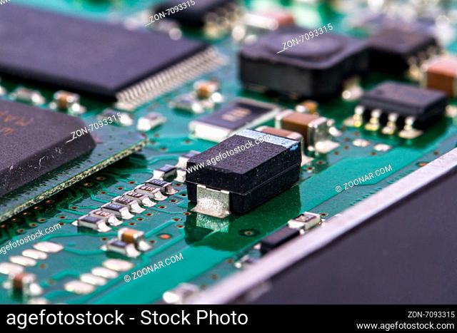 Close up view of hard disk