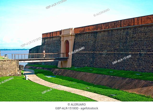Wall, Garden, Forte do Castelo, Belém, Pará, Brazil