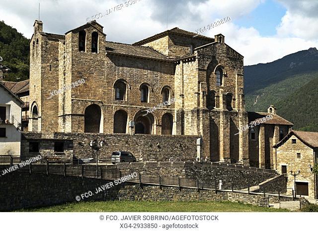 Romanesque Monastery. San Pedro de Siresa. Valle de Hecho. Aragonese Pyrenees. Huesca Province. Spain