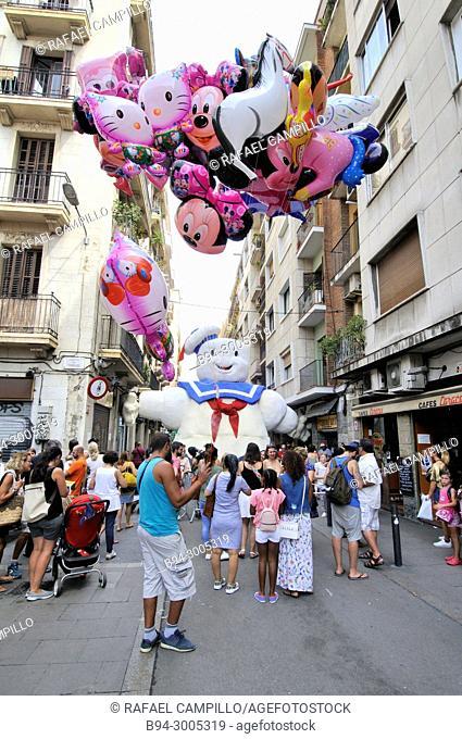 Festa Major de Gràcia (Gracia neighborhood festival) in August. Barcelona. Catalonia. Spain