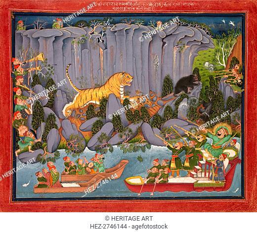 Tiger Hunt of Ram Singh II, c. 1830-1840. Creator: Unknown