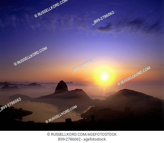 SUGARLOAF URCA MOUNTAIN GUANABARA BAY RIO DE JANEIRO BRAZIL