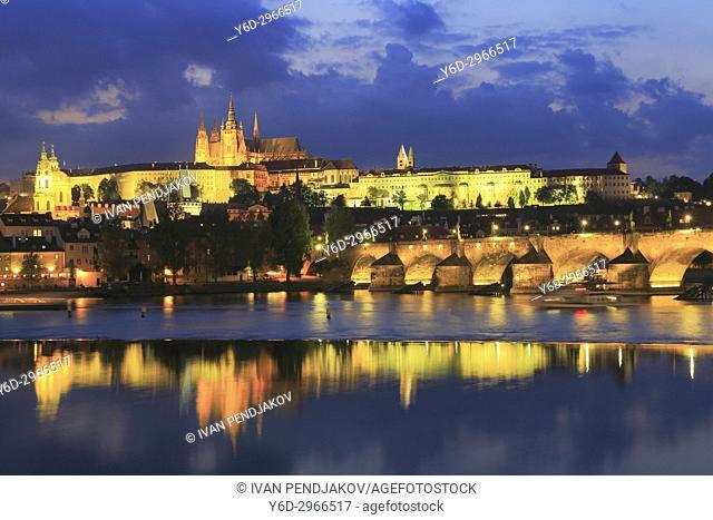 Prague at Dusk, Czech Republic