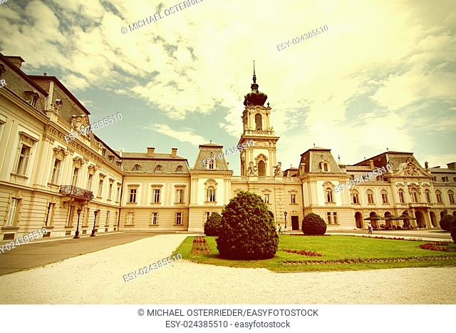 Famous castle in Keszthely, Hungary, Europe.