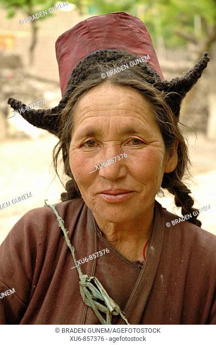 A Ladakhi woman Alchi, Ladakh, India