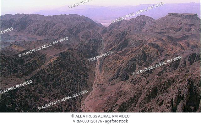 Aerial HD shot of Timna Area