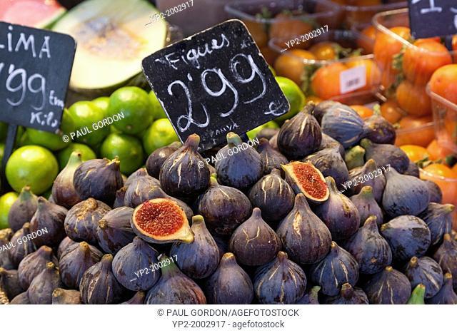 Fruits for sale at La Boqueria Market - Barcelona, Catalonia, Spain