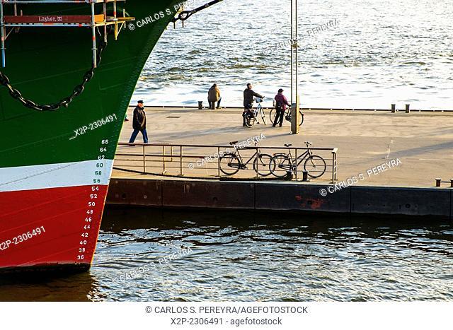 Rickmer Rickmers Museum Ship in Hamburg Harbor, Germany