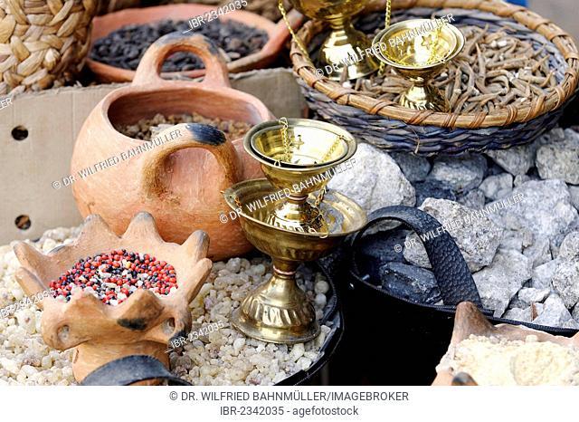 Incense, incense burners, souvenir shop, Nazareth, Galilee, Israel, Middle East