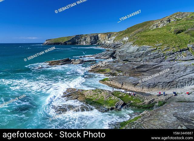 Trebarwith Beach, Cornwall, England, United KIngdom, Europe