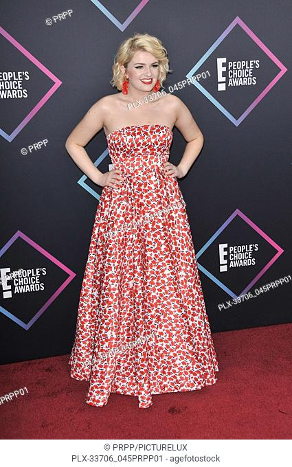 Maddie Poppe at E! People's Choice Awards held at the Barker Hangar in Santa Monica, CA on Sunday, November 11, 2018. Photo by PRPP / PictureLux