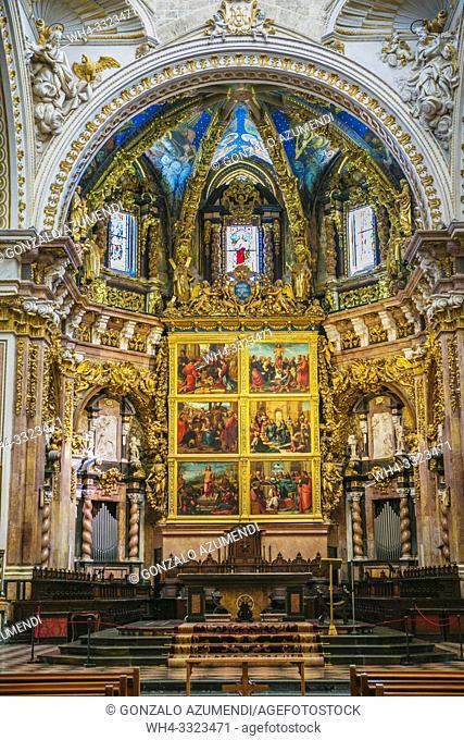 Main Chapel. Santa Maria de Valencia Cathedral. Valencia. Comunidad Valenciana. Spain