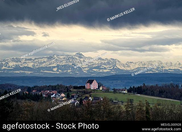 Germany, Baden.Wurttemberg, View over Bodanruck with Freudenthal Castle