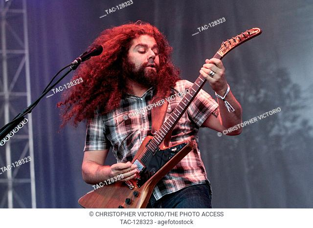 Vocalist and guitarist Claudio Sanchez of Coheed and Cambria performs at 2015 Monster Energy Aftershock Festival at Gibson Ranch County Park on October 25