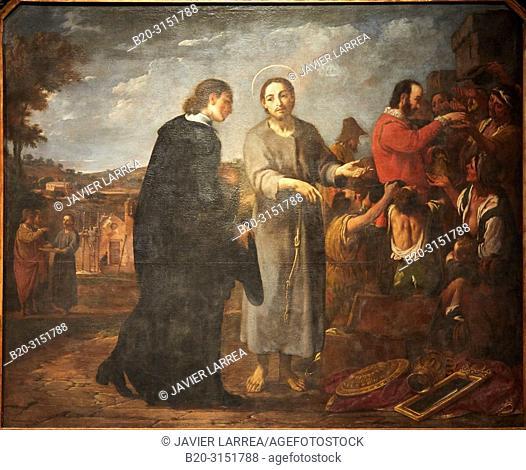 """""""""""""""Bernat de Quintaval Distributes his Riches to the Poor"""""""", 1729-1733, Antoni Viladomat, National Museum of Catalan Art, Museu Nacional d Art de Catalunya"""