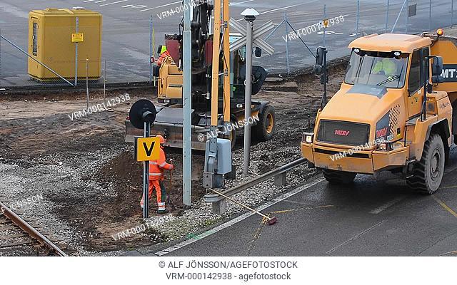 Work at railway