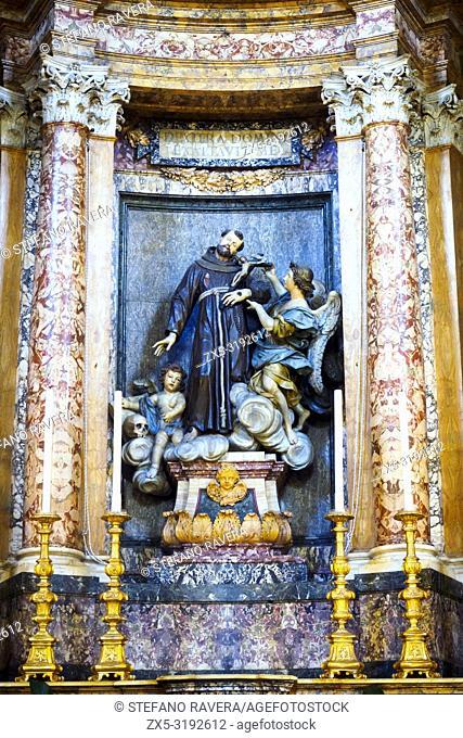Tabernacle in San Francesco a Ripa church - Rome, Italy
